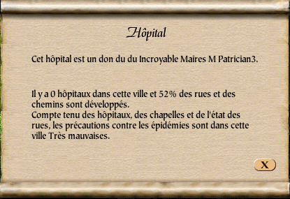 Informations hôpital